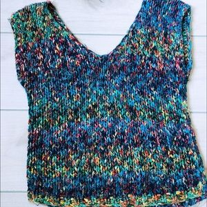 Vintage Multi-Color Weaved Sweater